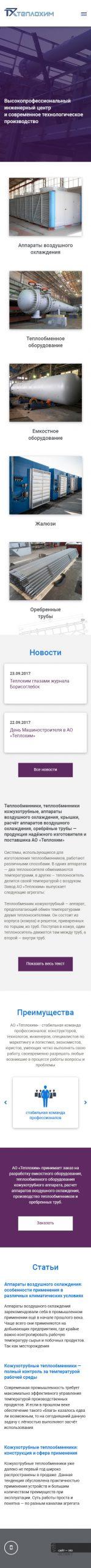 примеры сайтов производства Теплохим 320 px